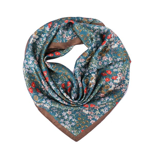 Casual Floral Scarves (1775417946, White;yellow;gray;khaki;pink;brown;royal blue;sky blue;dark gray;dark green;lilac