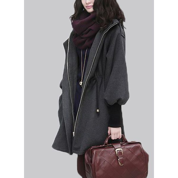 Long Sleeve Hooded Zipper Duffle Coats (1715370405) 6