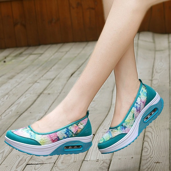 Flower Wedge Heel Shoes (1625272200) 3