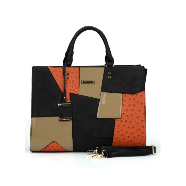 Tote Color Block Studded Adjustable Bags (1825381343) 8