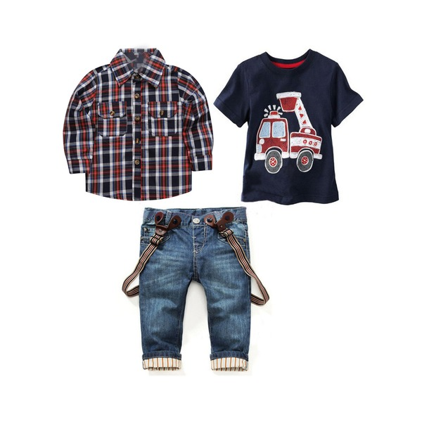 Boys' Plaid Going out Long Sleeve Clothing Sets (30165297563) 11