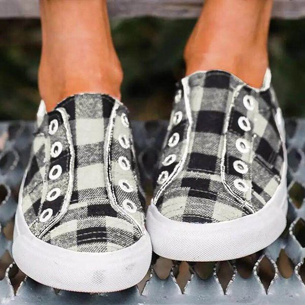 Women's Lace-up Round Toe Cloth Flat Heel Sneakers (1625568825)