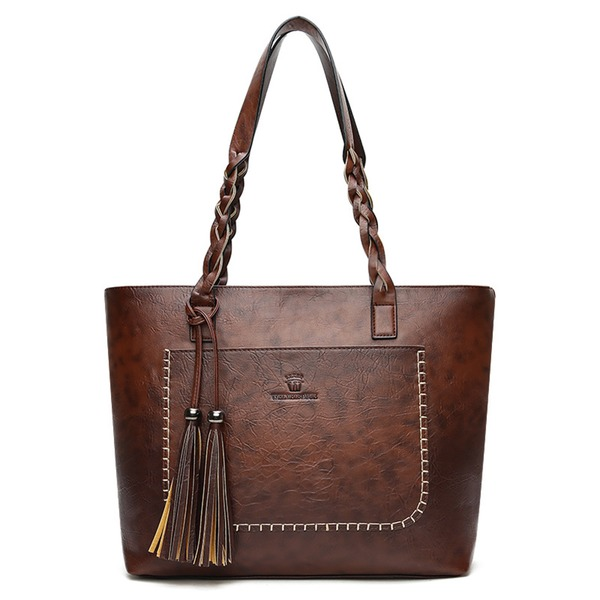 Tote Fashion Tassel Double Handle Bags (1825296101) 6