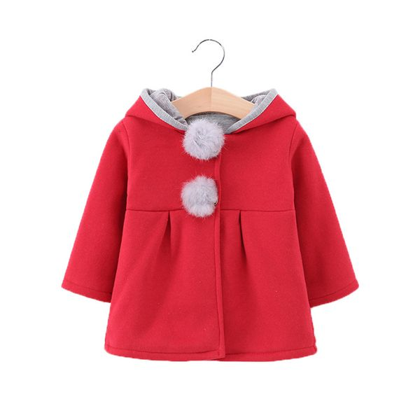 Girls' Casual Color Block Hooded Coats (30235380653) 3