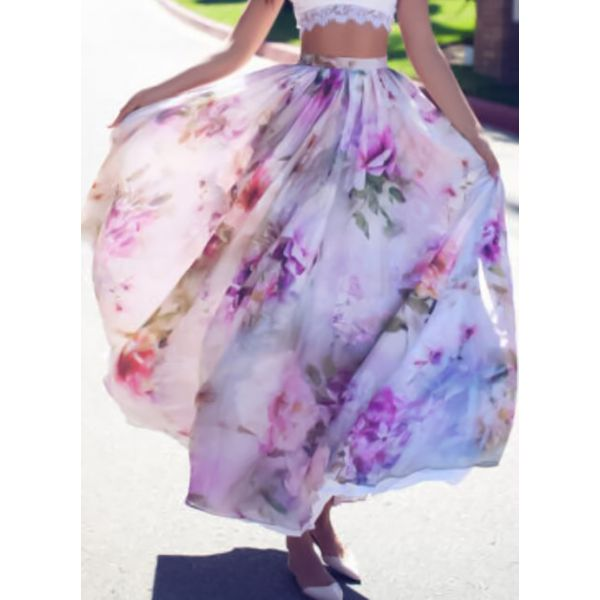 Floral Maxi Casual Skirts (1725377277) 5