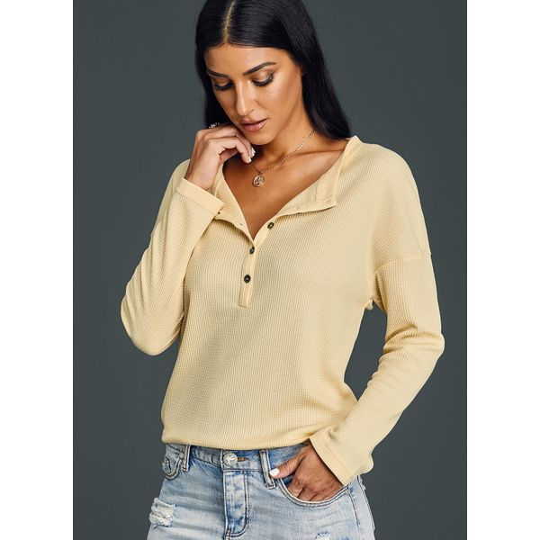 Solid Elegant Stand Collar Long Sleeve Blouses (01645379409) 2