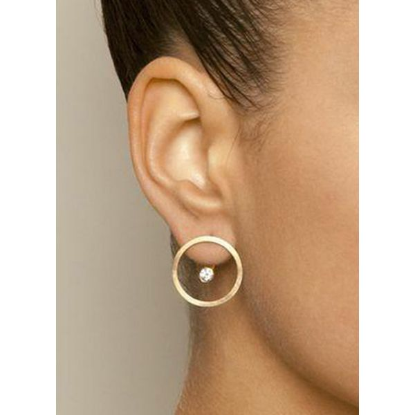 Casual Round No Stone Stud Earrings (1855568030)