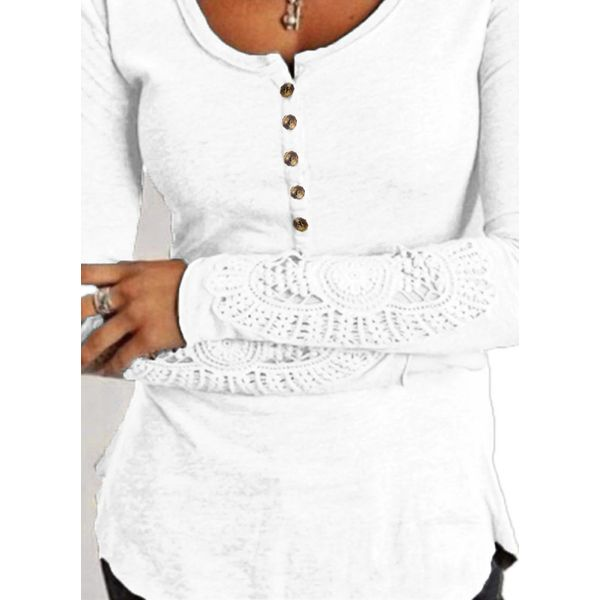 Round Neckline Solid Tight Regular Buttons Sweaters (1675352940) 9