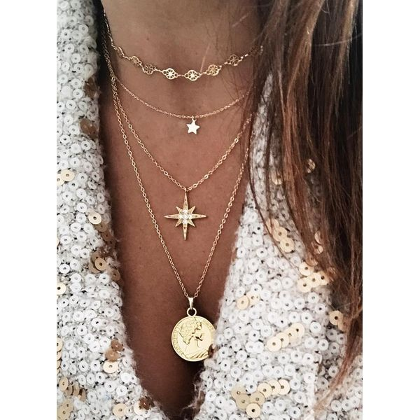 Casual Round Crystal Pendant Necklaces (1845569818)