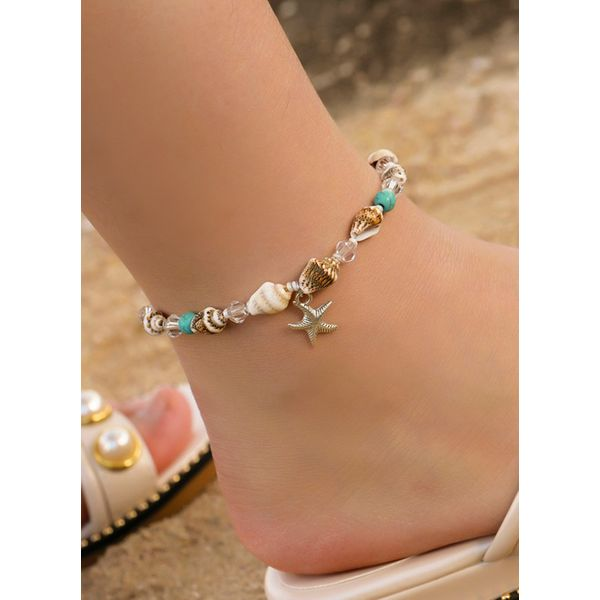 Casual Crystal Star Anklet (1905591410)