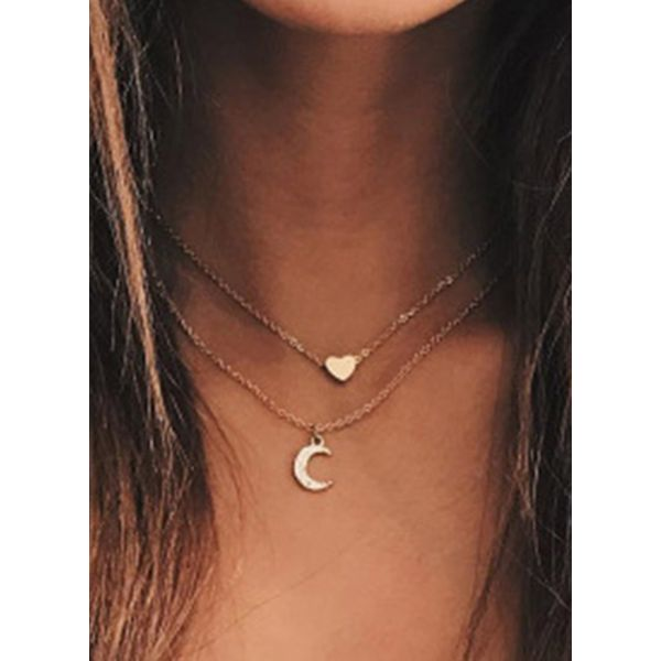 Casual Moon Crystal Pendant Necklaces (1845598062)