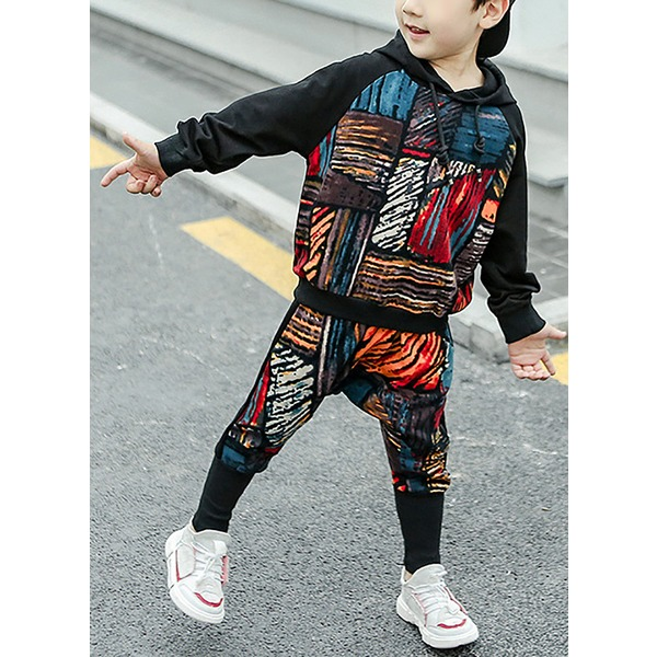 Boys' Print Going out Long Sleeve Clothing Sets (30165317056) 3