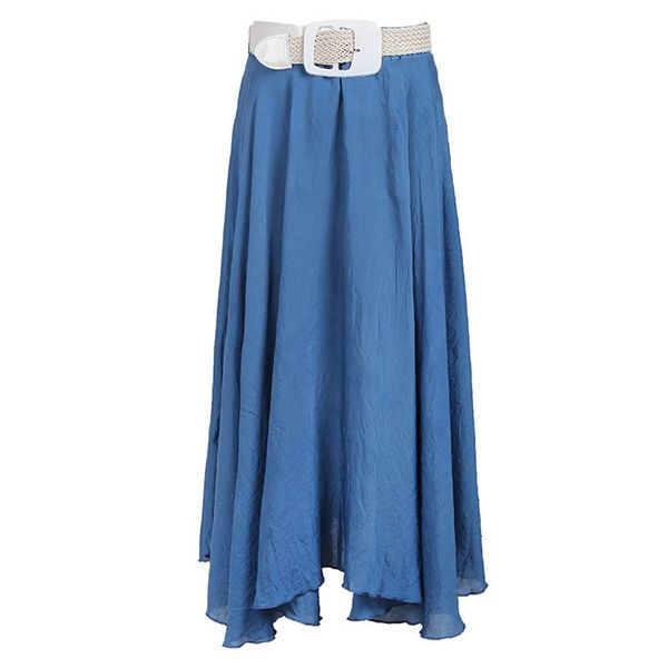 Solid Mid-Calf Casual Skirts (1725380851) 7