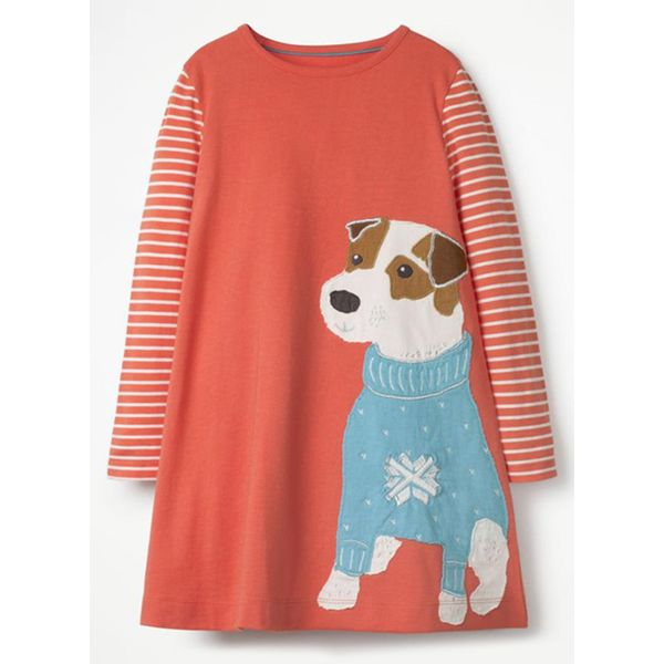 Girls' Cute Animal Daily Long Sleeve Dresses (30135339432) 11