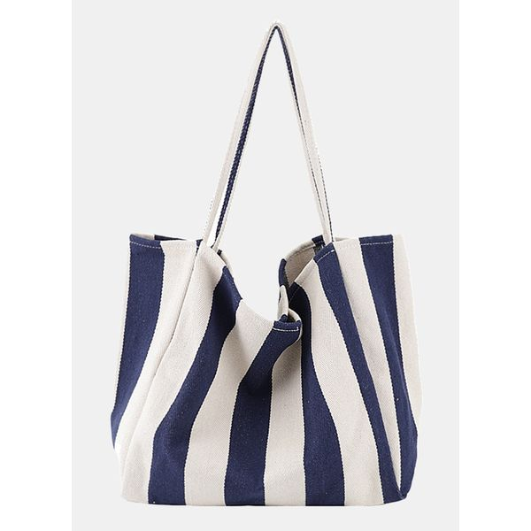 Tote Color Block Double Handle Bags (1825595164)