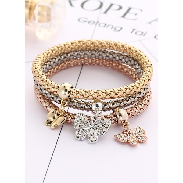 3pcs Animal Gemstone Link Bracelets (1865266386) 2