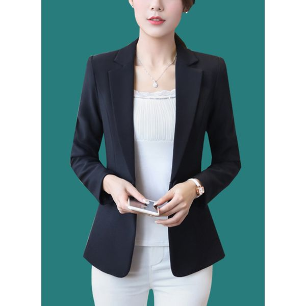 Long Sleeve Lapel Buttons Coats (1715380983) 4