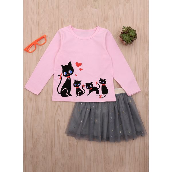 Girls' Cute Animal Long Sleeve Clothing Sets (30145376967)