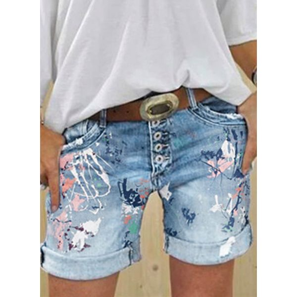 Women's Straight Jeans Shorts (1745552008)