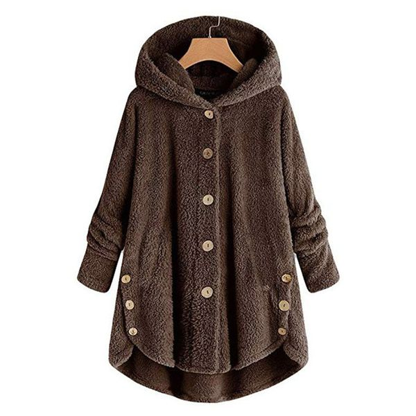 Long Sleeve Hooded Buttons Padded Coats (1715360285) 3