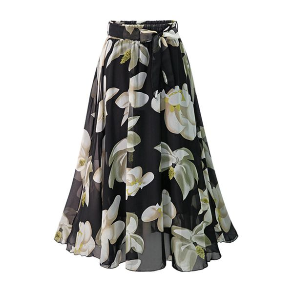 Floral Maxi Casual Skirts (1725570567)