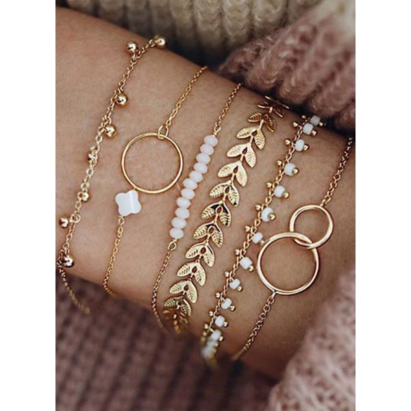 Casual Floral No Stone Beaded Bracelets (1865550811)