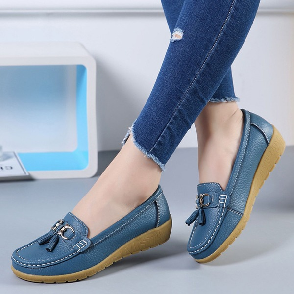Others Closed Toe Low Heel Shoes (1625325765, Black;white;gold;blue;brown;orange;coffee