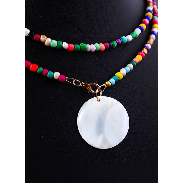 Casual Ball Round Gemstone Pendant Necklaces (1845596982)