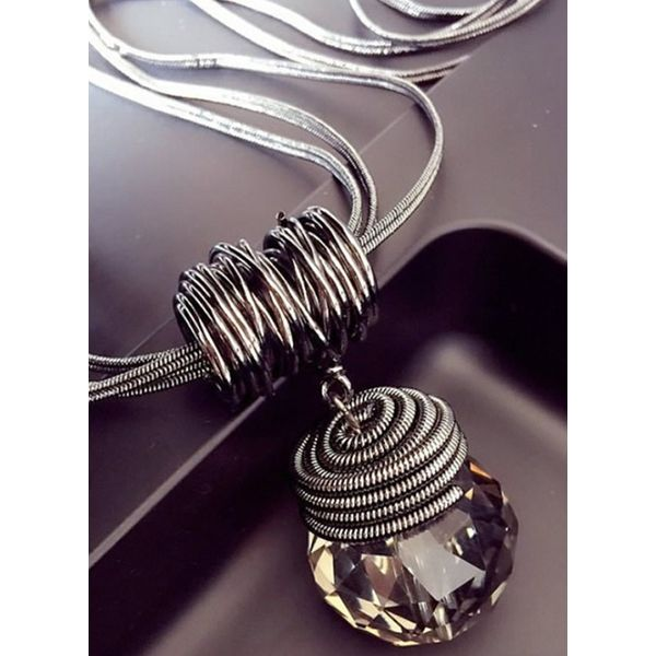 Casual Ball Crystal Pendant Necklaces (1845556593)