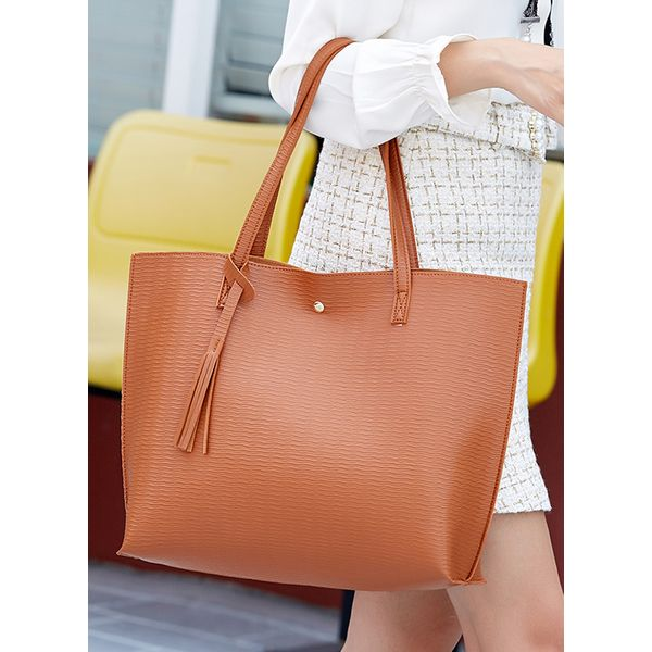 Tote Fashion Tassel Double Handle Bags (1825565802)