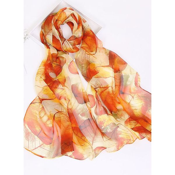 Casual Floral Scarves (1775343132, Orange