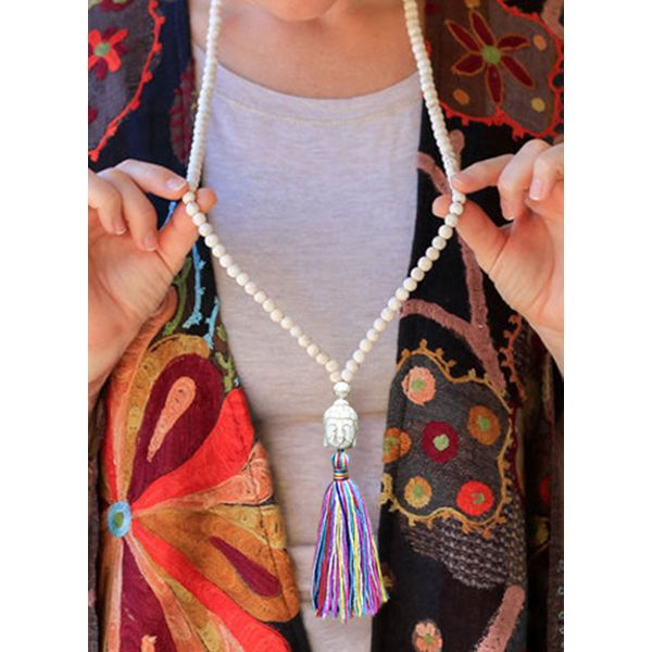 Casual Tassel No Stone Without Pendant Necklaces (1845586318)