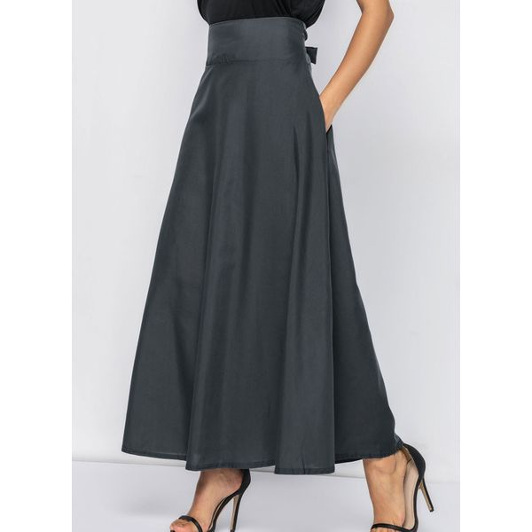 Solid Maxi Pockets Skirts (01725355600) 3