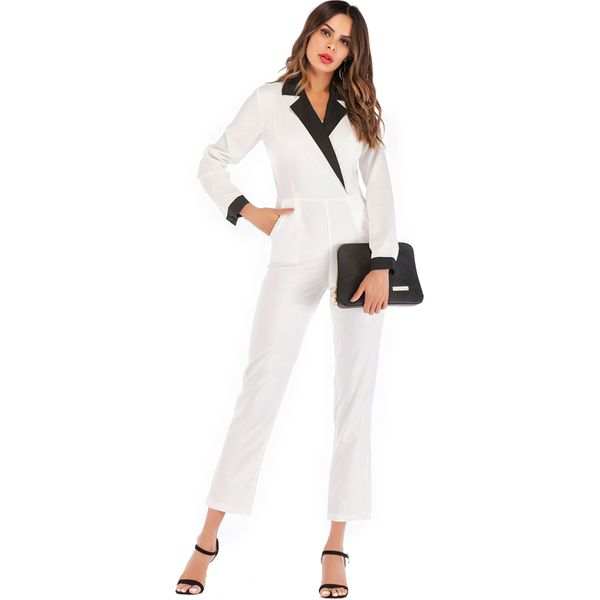 Color Block Long Sleeve Jumpsuits & Rompers (1735383033) 3