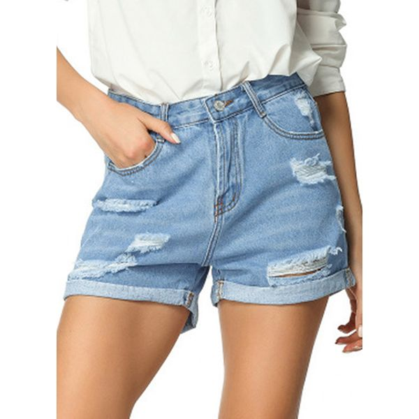 Women's Straight Jeans Shorts (1745588125)