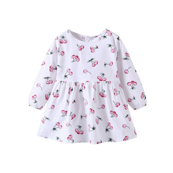 Girls' Casual Animal Daily Long Sleeve Dresses (30135408279, White