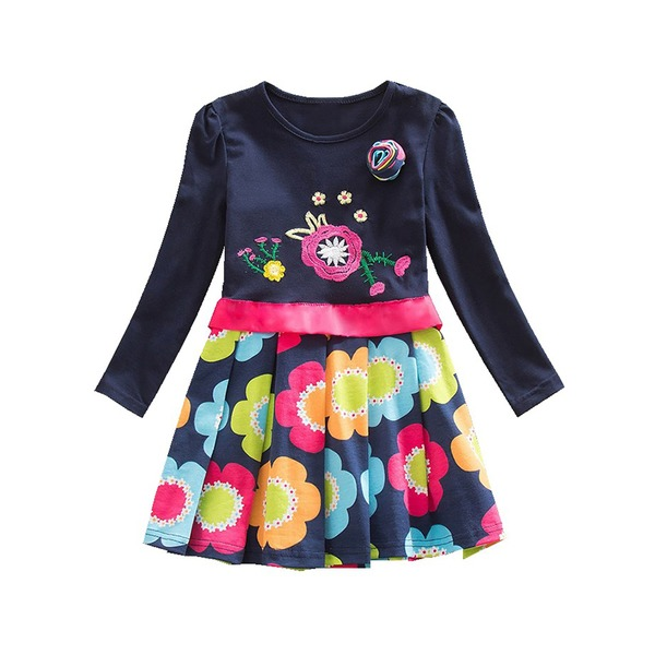 Girls' Floral Daily Long Sleeve Dresses (30135322361) 3