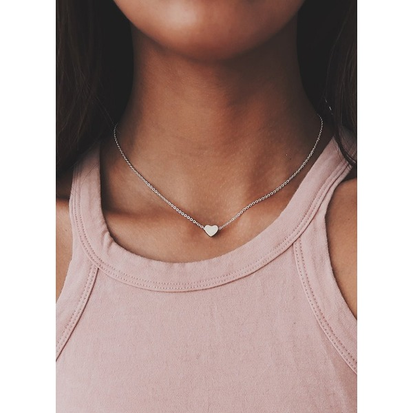 Heart No Stone Without Pendant Necklaces (1845265273) 9