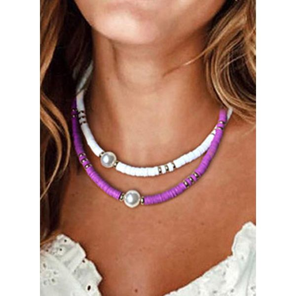 Casual Ball Pearls Without Pendant Necklaces (1845586278)