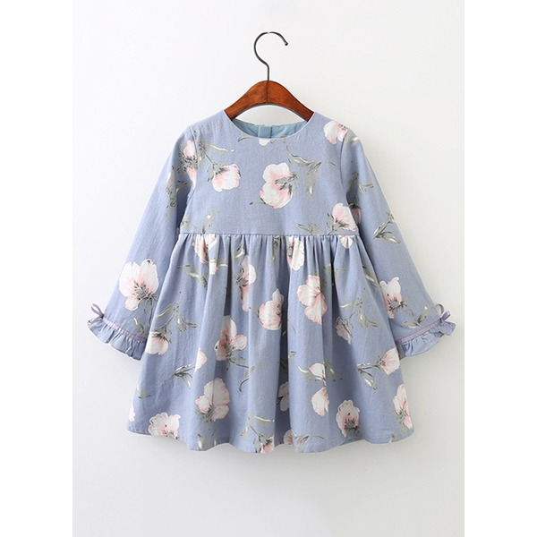 Girls' Floral Daily Long Sleeve Dresses (30135316748) 9