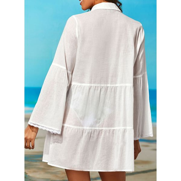Polyester Solid Cover-Ups Swimwear (30015377189)