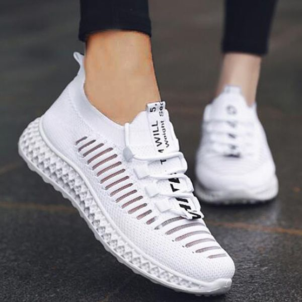 Women's Lace-up Hollow-out Closed Toe Fabric Wedge Heel Sneakers (1625596834)