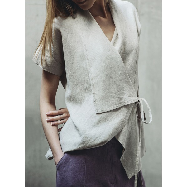 Solid Others Short Sleeve Blouses (1645299030) 4