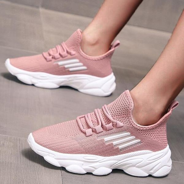 Women's Lace-up Hollow-out Closed Toe Fabric Wedge Heel Sneakers (1625592130)