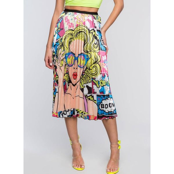 Floral Mid-Calf Casual Skirts (1725582373)