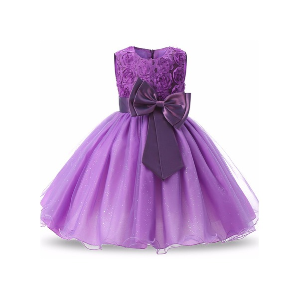 Girls' Solid Party Sleeveless Dresses (30135298157) 9