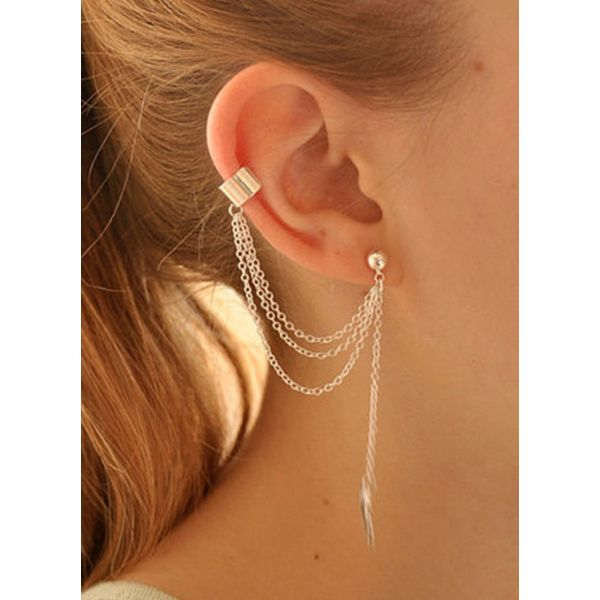 Casual Floral No Stone Dangle Earrings (1855418025)