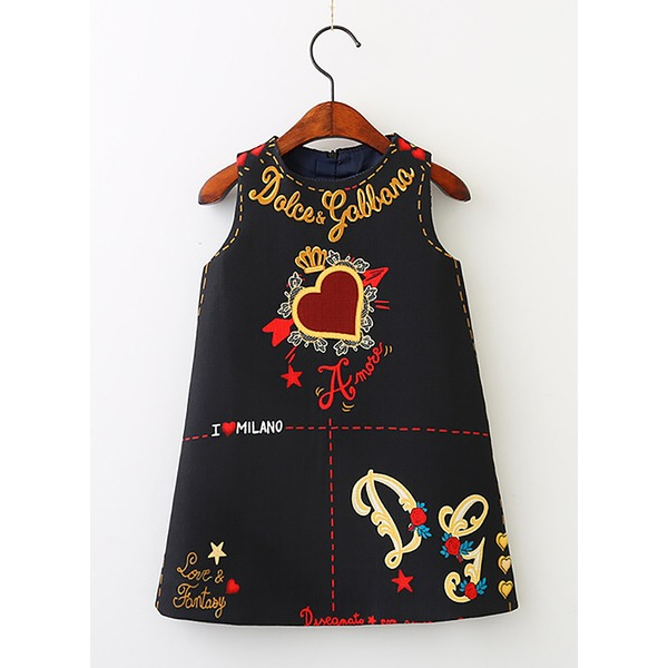Girls' Graphic Going Out Sleeveless Dresses (30135284969) 4