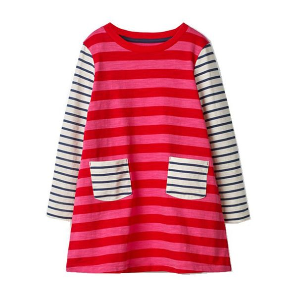 Girls' Casual Color Block Daily Long Sleeve Dresses (30135339392) 9