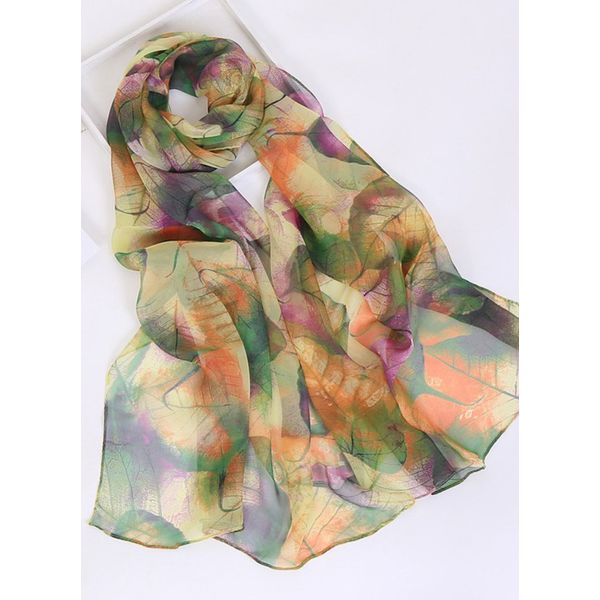 Casual Floral Scarves (1775343130, White